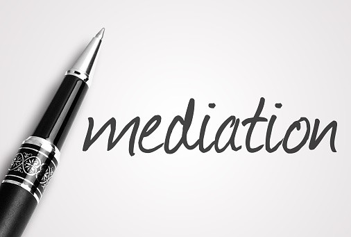 pen writes mediation on paper