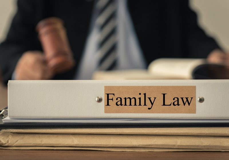 Judge with family law binder