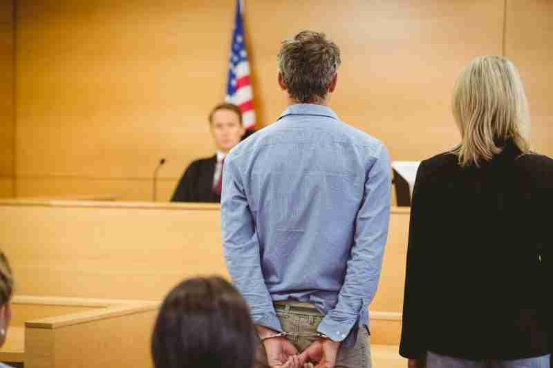 Man facing judge