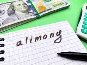 alimony written on paper
