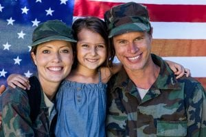 military family with child